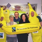 Pictured at the launch of Fair Trade Fortnight at IT Sligo are: Paul O'Donnell, marketing student; Nicola Allan (Fair Trade Sligo), Kevin Meehan, marketing student; Dr Catherine McGuinn Head of Dept of Business at IT Sligo), marketing student, Paddy King.