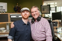 Miles Graham and Terry Wogan after Miles Performed live on the Weekend Wogan BBC2 Radio Show. Photo by Colin Gillen