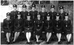 MAKING HISTORY: The first female gardai pictured following their passing out in 1959. Sligo woman Josephine Dwyer is third from right in the front row.