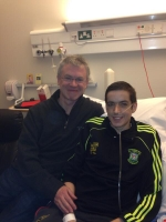 GAA pundit Joe Brolly with Gary Dillon, who he met while in hospital.