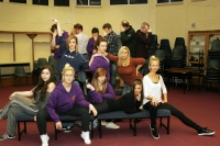 MUSICAL: The cast of 'Sweet Charity' strike a pose.
