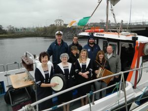 CONCERT: Members of the all-female shanty group Eight Bells are joined by shanty organisers and the crew of the Sarah Marie, under skipper Daryl Ewing.