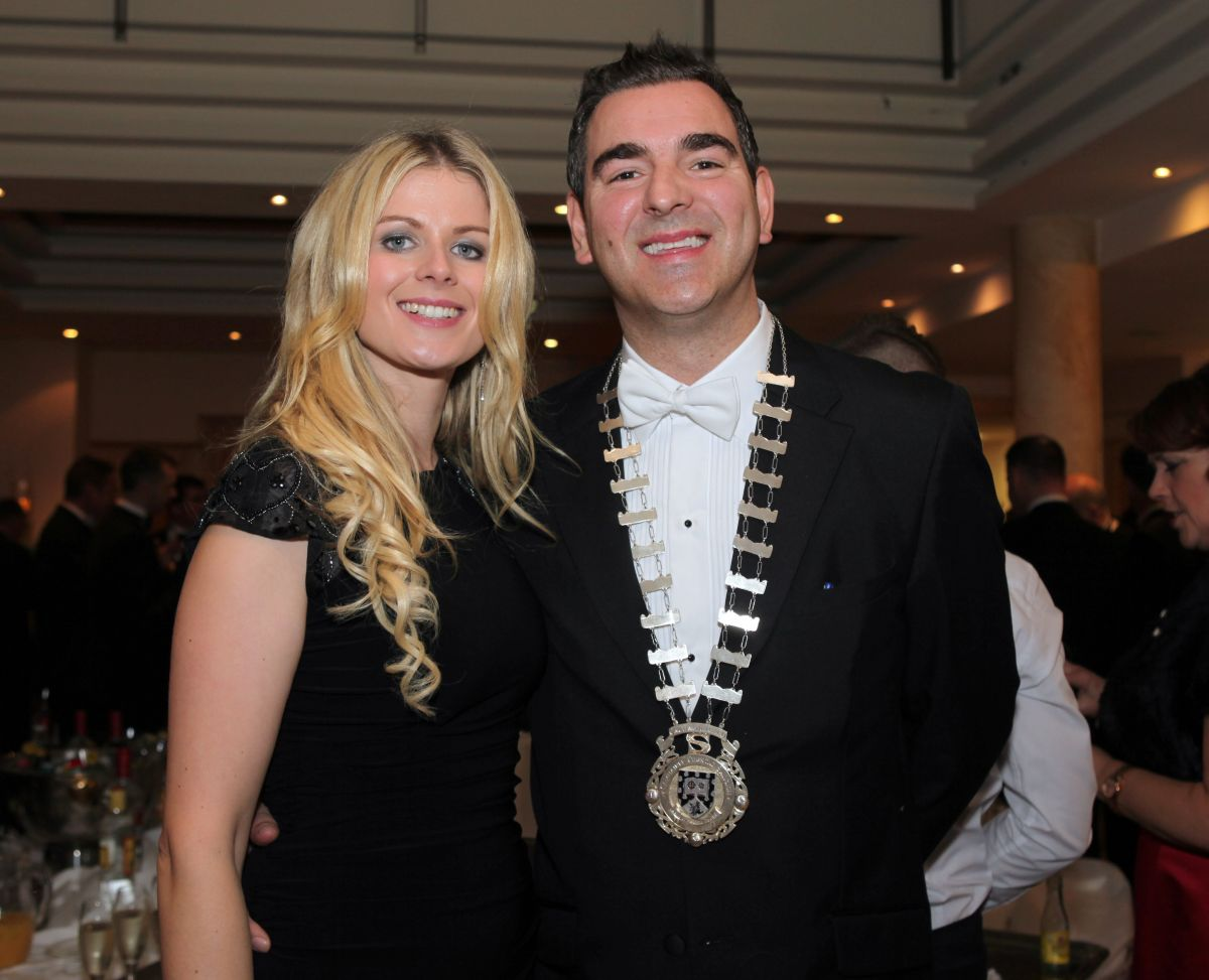 MAYOR: Cllr Tom MacSharry and his wife Louise.