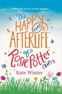 "The cover of Kate Winter's debut novel, ""The Happy Ever Afterlife of Rosie Potter (RIP)""."