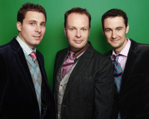 TRIO:  The Celtic Tenors (l-r) Daryl Simpson, James Nelson and Matthew Gilsenan.