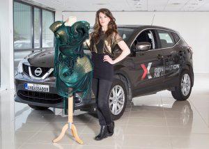 DESIGNER: Nissan Generation Next ambassador hopeful Rebecca Marsden