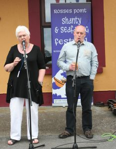 SHANTY SONG: Live music in Rosses Point for the Shanty and Seafaring Festival.