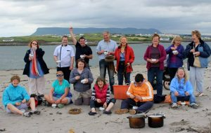 WALK: Pictured are food fans who took a special seaweed walk with Dr Prannie Rhatigan at last year's Só Sligo Food Festival. Photo by Val Robus/Magnumlady