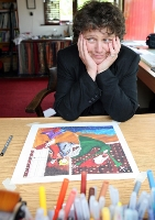 Illustrator Annie West, at her home in Sligo. Photo: James Connolly / PicSell8 31MAY07