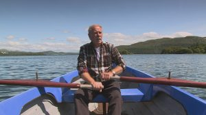 LAKE: Rower Sean Gilmartin was recorded rowing on Lough Gill for the build-up to the Garland Sunday broadcast.
