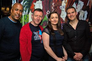 Patrick Gilbert, Eddie Lee, Sinead Conway and Stephen Kohlman who performed on the Sligo Jazz Festival Programme launch.
