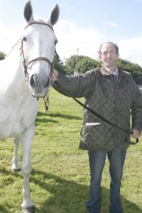 Tommy Howley with his horse Sheeba Rose