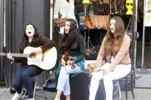 FLEADH: Three young musicians perform during last week's Fleadh Cheoil.