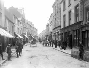 Castle Street in Sligo as it would have looked iun the year of Yeats' birth
