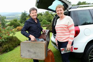 ROAD TRIP: Daniel O'Donnell and his wife Majella heading off on their road trip for the new TV series.