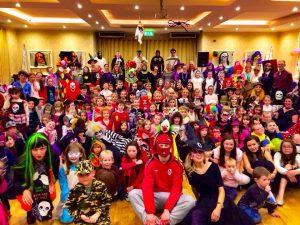 FANCY DRESS: Last year's Sean nos ar an tSionann Halloween party.