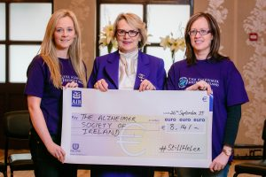 "CHEQUE: Helen O'Brien, Helen Rochford Brennan and Carine Quinn holding the ""Still Helen"" cheque presented to The Alzheimers Society of Ireland by the friends and family of Helen Rochford Brennan at Cawley's Hotel, Tubbercurry, Co. Sligo.  Photo by Richard McCarthy/eventcapture.ie"