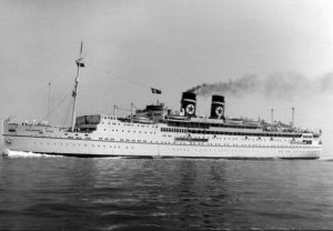 SHIPWRECKED: The SS Arandora Star which was sunk by a German U-Boat during the second world war.