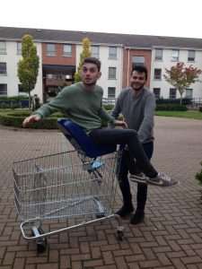 EUROTRIP: Ryan Feehily (right) and Hugh Lennon will endeavor to reach Berlin without the use of their own funds.