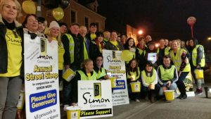 THE BIG SLEEP: Participants who took part in this year's Sleep Out for NW Simon.