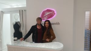 POWER COUPLE: Jodi Egan and husband Kian at the official opening of her new boutique in the Quayside Shopping Centre.