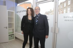 AUTHOR: 'Floorplay' author Isobel Guckian pictured with her father, Tom Guckian, at the launch of her book in Dublin.