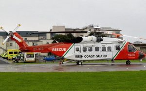 MOUNTAIN RESCUE: One of the 300 missions carried out by Rescue 118 happened back in February when students were stranded on high ground above the Gleniff Horseshoe. Members of Sligo Leitrim Mountain Rescue and the Strandhill-based helicopter were able to  reach the students and either airlift or walk them out of danger.