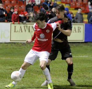ROVERS BALL: Jimmy Keohane in action for Sligo Rovers in the pre-season friendly against Liverpool U-21s.
