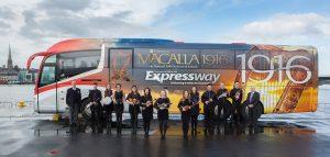 TOUR: The Macalla 1916 tour bus will bring Sligo composer Michael Rooney's 1916 commemorative suite to Sligo on Saturday night.