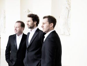 CELTIC TENORS: (l-r) James Nelson, Matthew Gilsenan and Daryl Simpson will perform in Lissadell Church on Saturday, May 7.