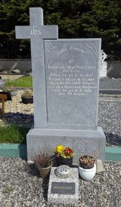 RESTING PLACE: Donnchadh is buried in St Columba's Cemetery in Rosses Point.