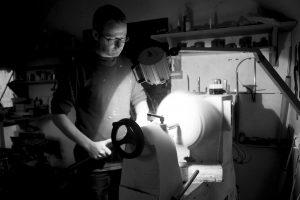 CRAFTSMAN: Matt Jones working on his lathe in Riverstown