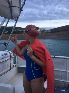 SWIM: Clodagh swam the channel.