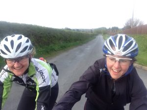 CHALLENGE: Partners Lisa Jacob  and Nikki Dorey will undertake a non-stop cycle around Ireland (cycling in three-hour shifts) starting on Sunday.