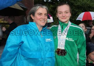 swimmer M Mc Sharry and Coach.jpg - Sligo Weekender | Sligo News | Sligo Sport
